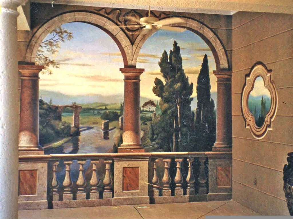 Italian Vineyard Mural