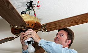 $75 for Ceiling Fan Installation