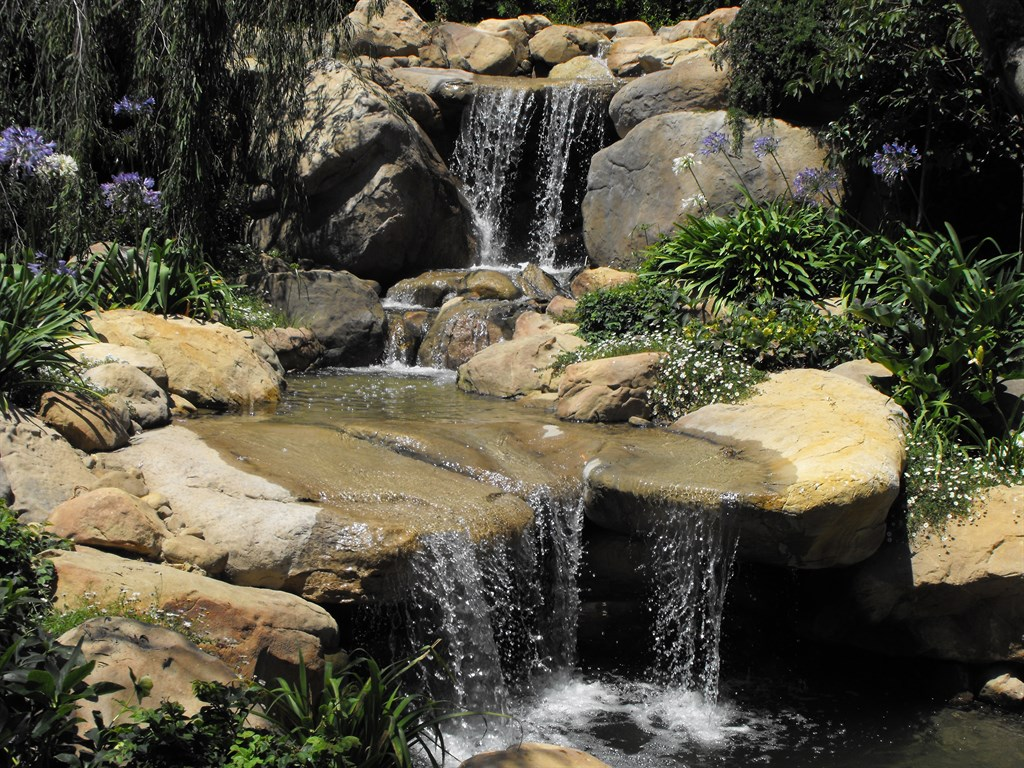Garcia rock water design goleta ca 93117 angies list for Koi pond waterfall