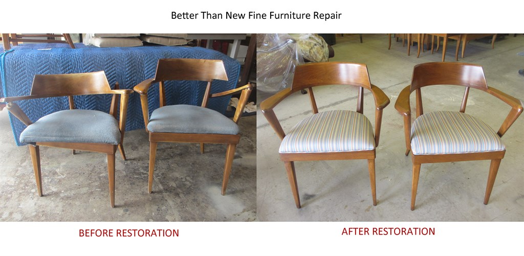 chairs - before and after