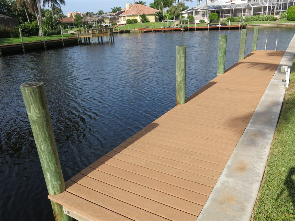 Boat Dock After Cleaning