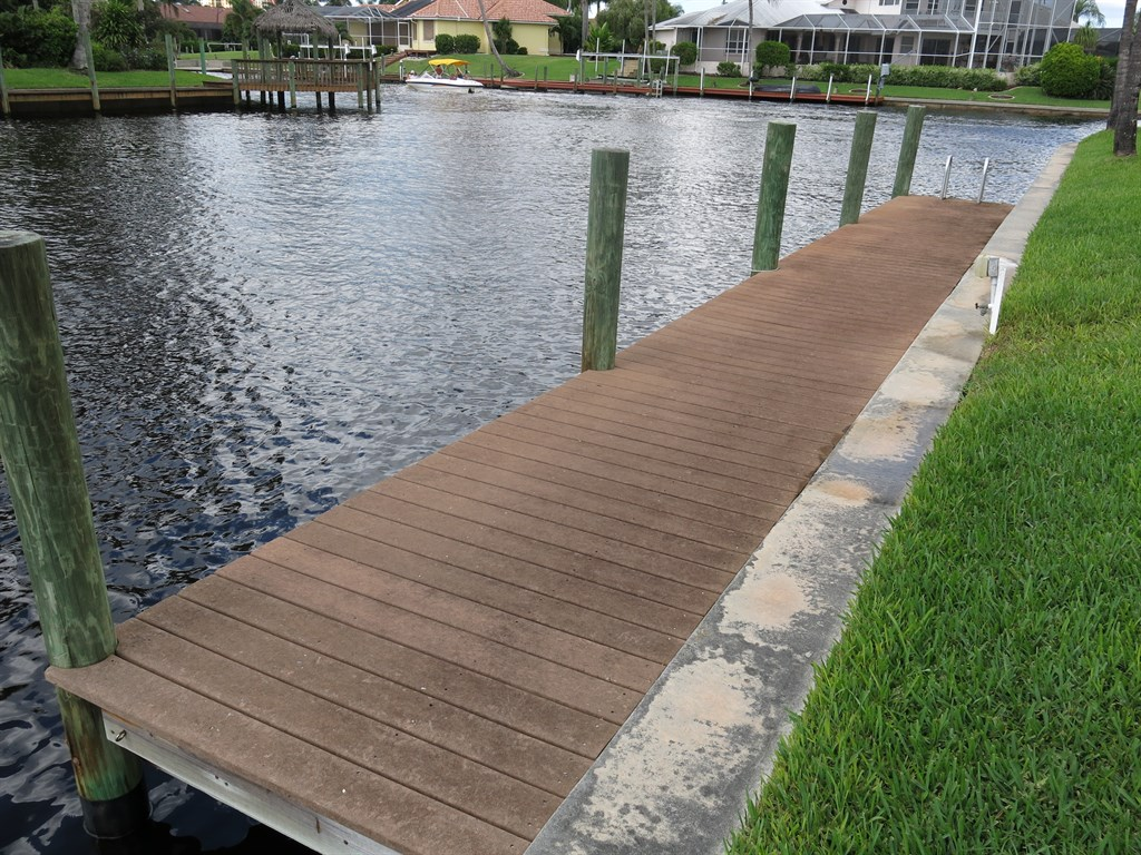 Boat Dock Before Cleaning