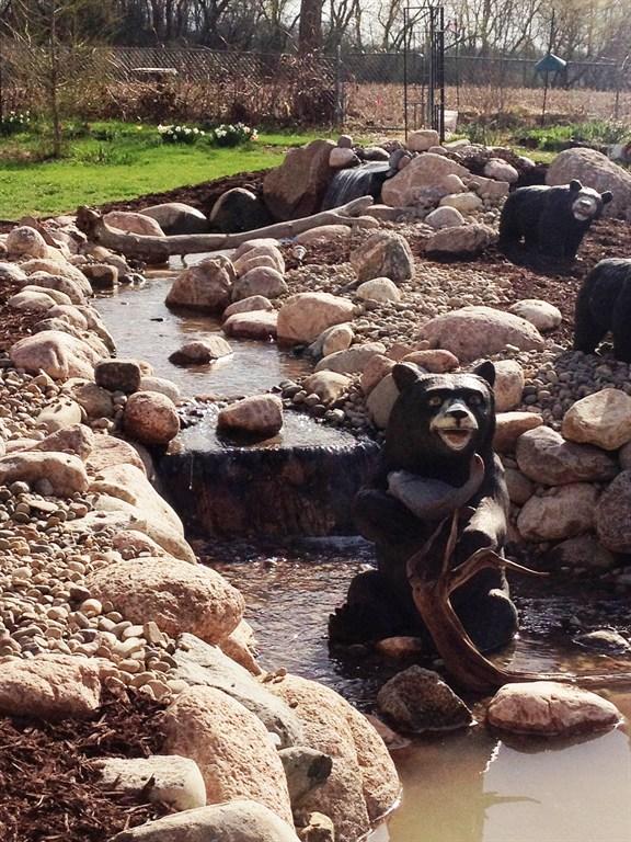 Stream and 11x16 Pond