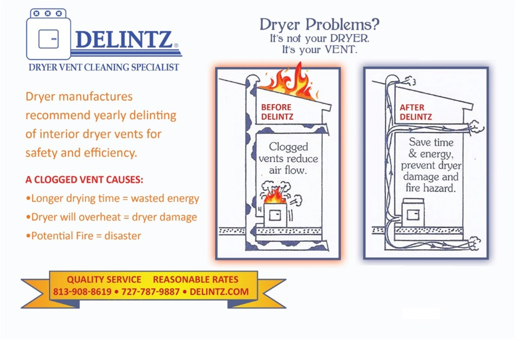 Delintz Dryer Vent Cleaning Service Tampa Fl 33618