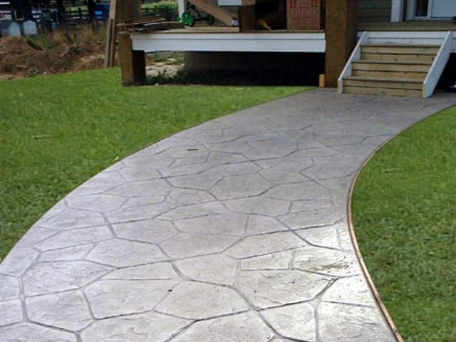 Pauley 39 s construction and maintenance duncannon pa - Stamped concrete walkway ideas ...