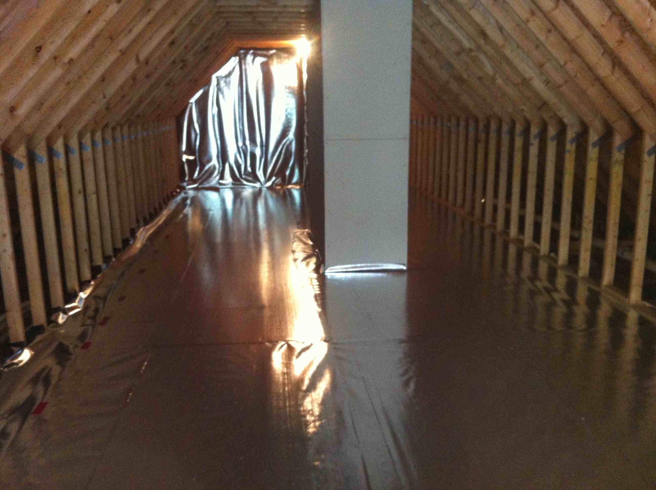 radiant barrier floor and walls