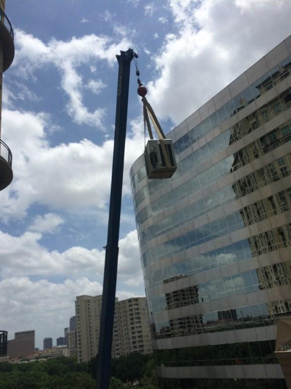 Crane with unit