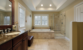 $979 for Ceramic Tile Bathroom Floor Replacement