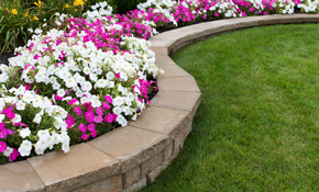 $1,650 for Stone Border Flower Bed