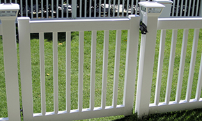 $230 for a Closed Picket Vinyl Fence Gate...