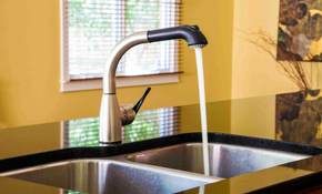 $320 for Chrome Kitchen Faucet Installation