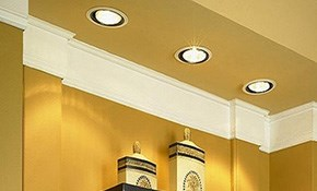$500 for 4 New Recessed Lights Installed