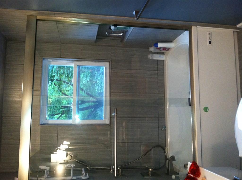 Bathroom remodel gray 1