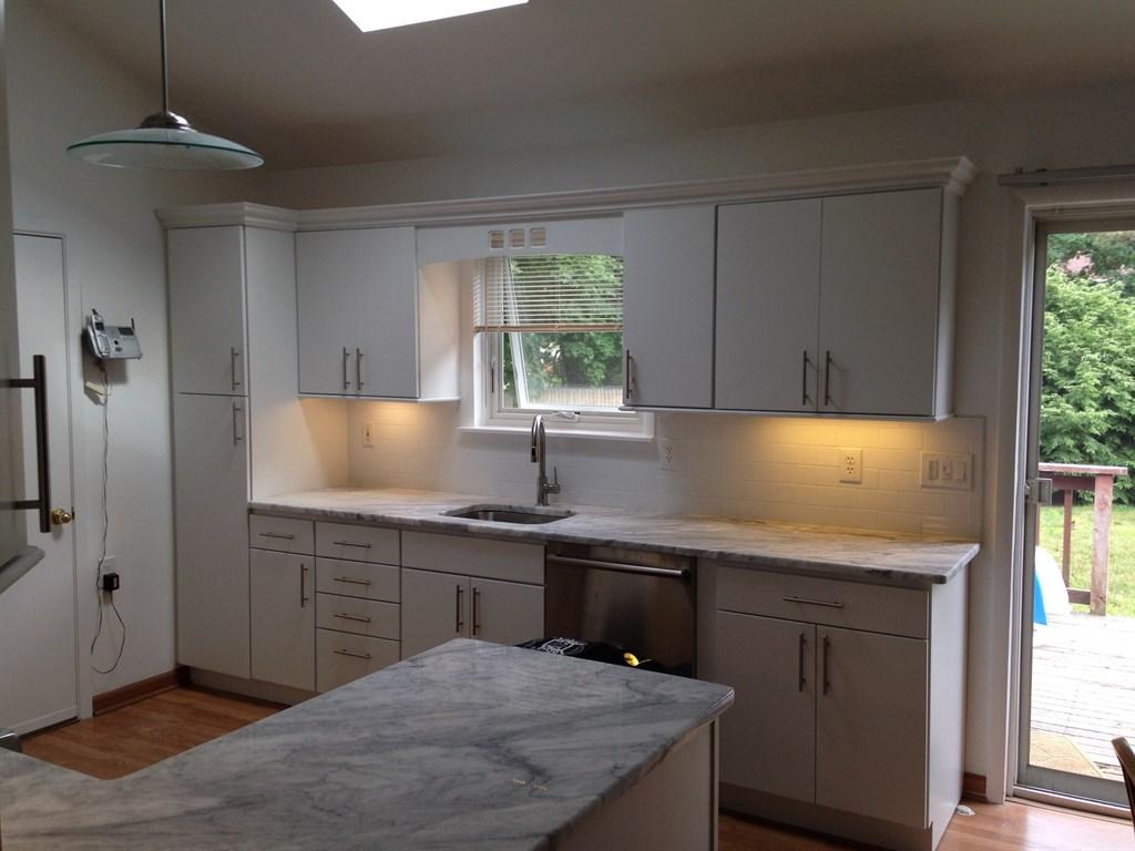 Kitchen remodel white 2