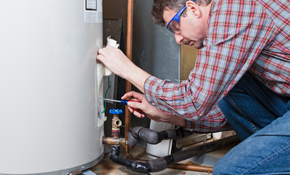 $125 for Water Heater Flush and Plumbing...