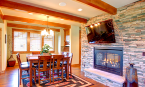 $1,530 for Stone Fireplace Face with Installation...