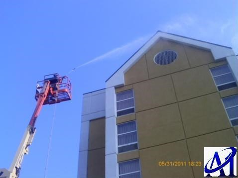 Environmental (EPA) compliant hotel pressure washing Knoxville TN.