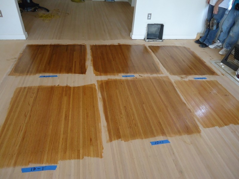 remove exsiting floors while the new floors are being acclimated