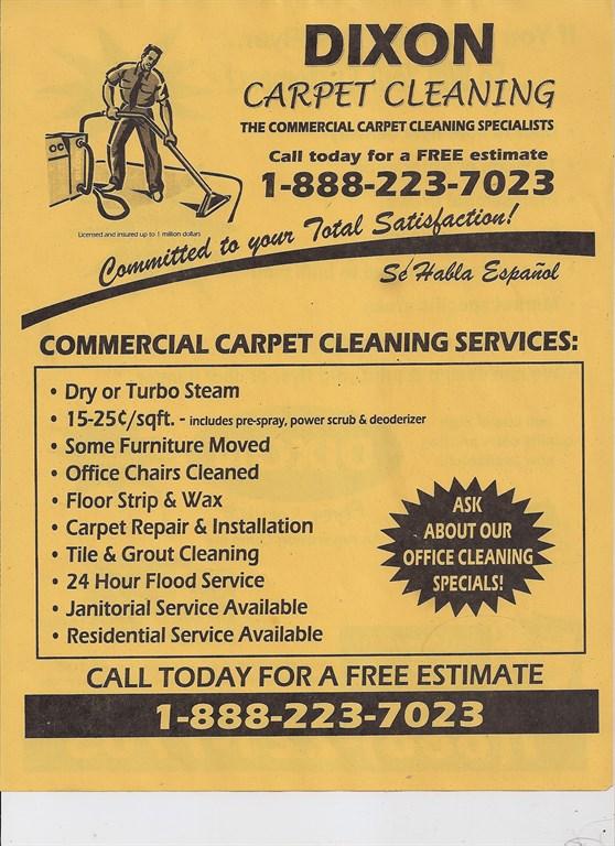 Dixon Carpet Cleaning Riverside Ca 91507 Angies List