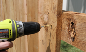 $300 for 4 Hours of Wooden Fence Maintenance