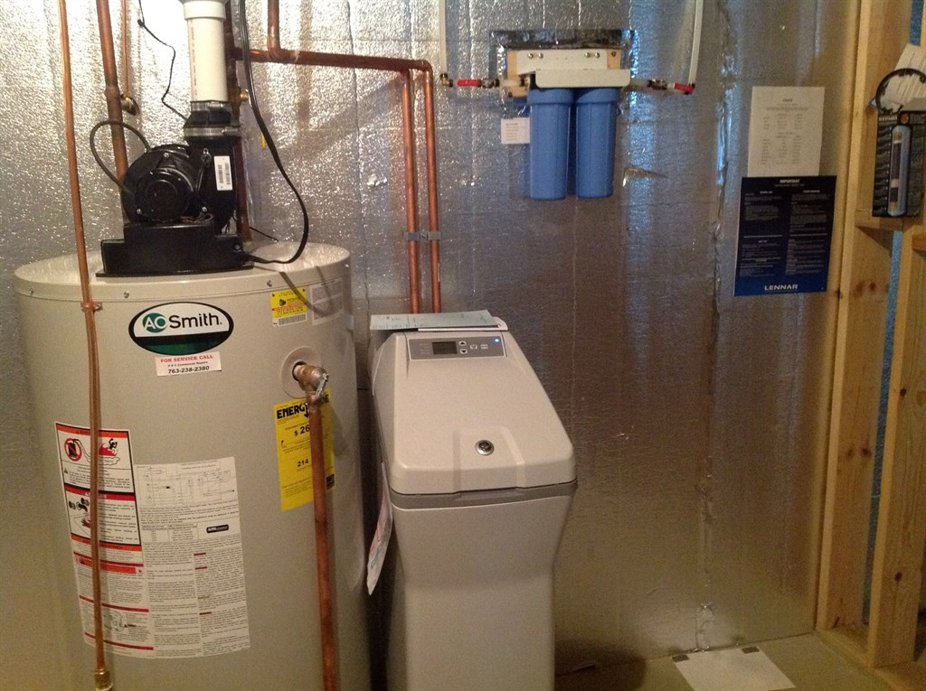 GE softener with 2stage drinking water filter