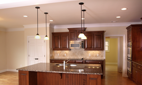 $405 for Four New Recessed Lights with a...