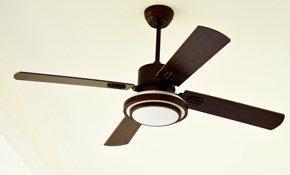 $129 for Installation of Two Ceiling Fans