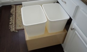 $210 for a Custom Single 35Qt Trash Rollout...