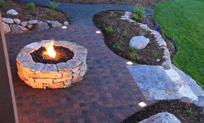 $13,900 for Paver Patio Plus Firepit Installed