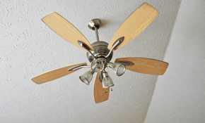 $170 New Ceiling Fan Installation