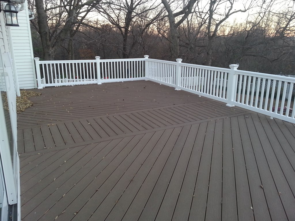 Composite Decking and Patio with a Fire Pit