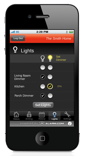 Turn lights on and off remotely