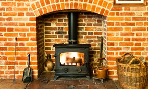 $129 Fireplace Chimney Flue Sweep and Safety...
