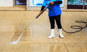 $125 Garage Floor Pressure Washing