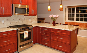 $49 for an In-home Cabinet Refacing Design...