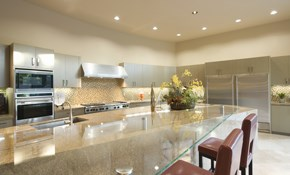 $599 for 6 New Recessed Kitchen Lights with...
