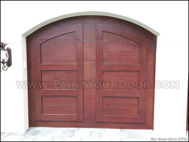 Door diva wood grain faux garage doors coral springs fl for Faux wood grain garage door painting