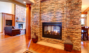 $6,500 Real Thin-Stone Fireplace with Bluestone...