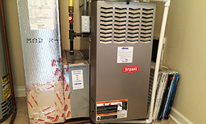 $1,712 for a New Gas Furnace Installed