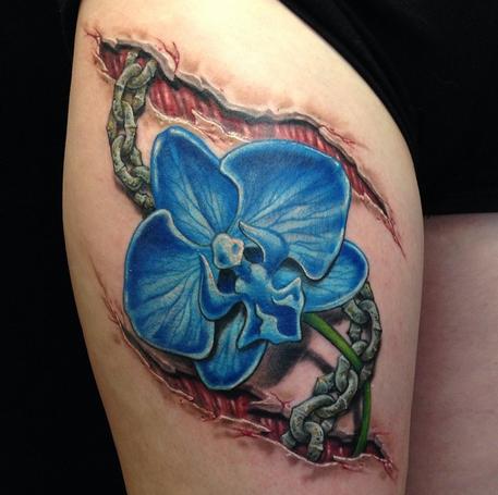 Skin Tear Flower/Chain