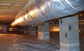 $500 for Crawl Space Vapor Barrier Installation...