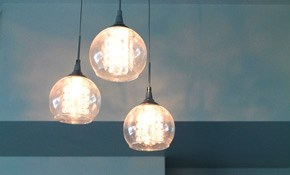 $125 for Flush Mount or Small Hanging Fixture...