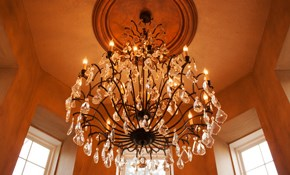 $77 Ceiling Light Fixture or Chandelier Installation