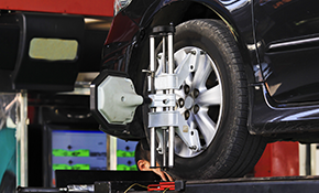 $89.95 for a Four-Wheel Alignment Plus Tire...