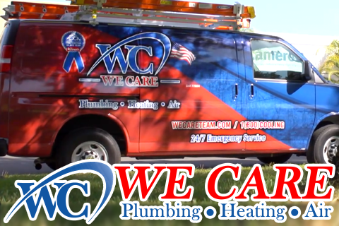 We Care Plumbing Heating and Air contractor vehicle