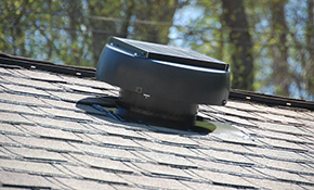 $340 Installation of a Solar Attic Fan