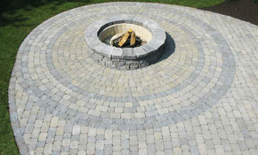 $9,800 Fire Pit and Circle Patio Installation