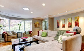 $345 for Four New Recessed Lights with a...
