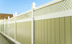 $155 6ft by 8ft Solid White Vinyl Fence Section