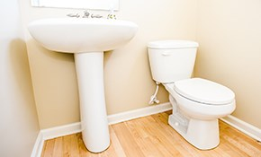 $150 for a New Toilet Installed